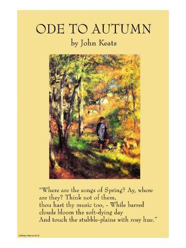 """keats to autumn essay Free essay: to autumn by john keates - critical analysis john keats once said about lord byron """"he describes what he sees - i describe what i imagine, mine."""