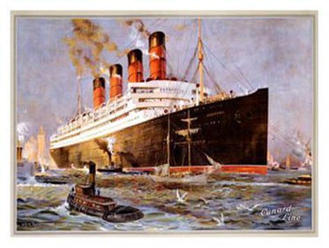 Cunard Line, Aquitania Giclee Print