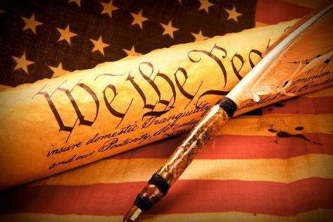 Us Constitution - We the People Photographic Print
