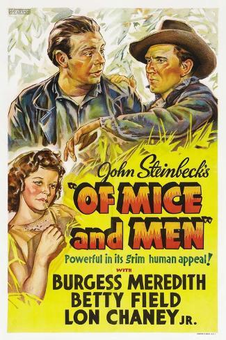Of Mice and Men, 1939 Giclee Print