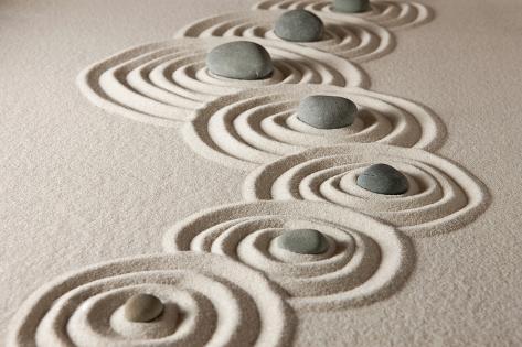Zen Stones Photographic Print