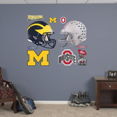 Ohio State - Michigan Rivalry Pack Wall Decal Wall Decal
