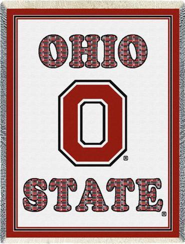 Ohio State University, Plaid Letters Throw Blanket