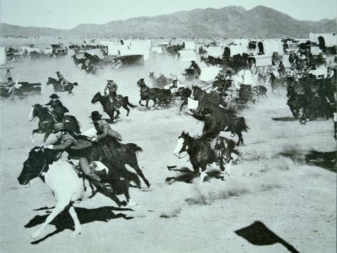 Oklahoma Land Rush of 1893 Stampa fotografica