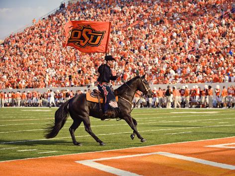 Oklahoma State University - The Cowboy Enters Boone Pickens Stadium Photo