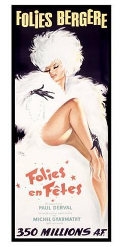 Folies-Bergere, Cabaret Dance Theater Giclee Print