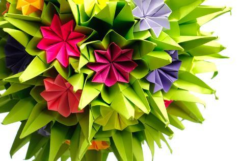 Origami Kusudama Flower Photographic Print By Oksix At Allposters