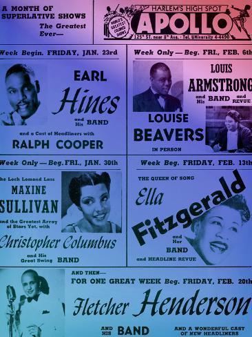 オールポスターズの old apollo theater performance calendar in cool