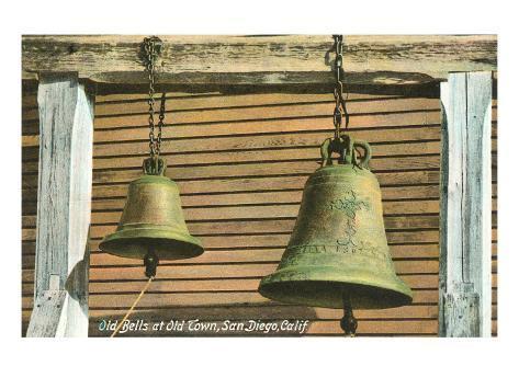 Old Bells in Old Town, San Diego, California Art Print