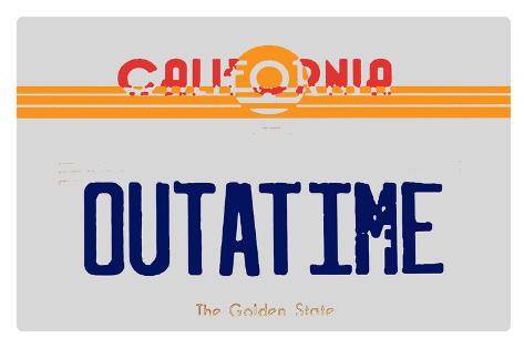Old Cali Plate Poster