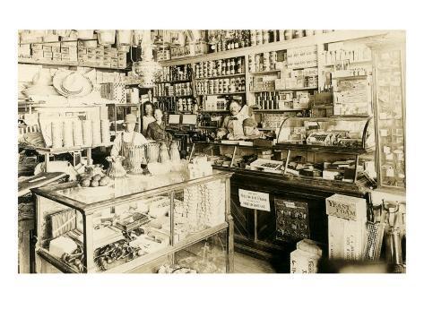 Old General Store Art Print