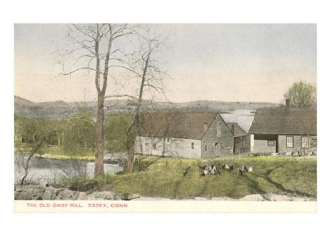 Old Grist Mill, Essex, Connecticut Art Print