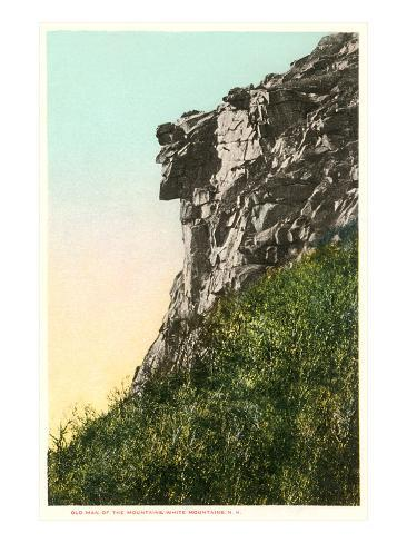 Old Man of the Mountains, White Mountain, New Hampshire Art Print