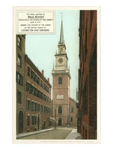 Old North Church, Paul Revere, Boston, Massachusetts Stampa artistica