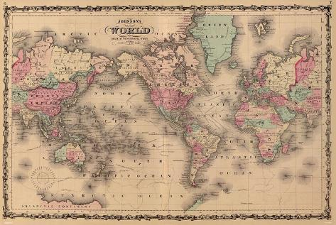 Old world map colorful art print poster posters at allposters old world map colorful art print poster gumiabroncs Choice Image