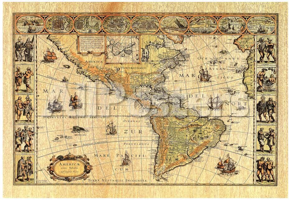 Old World Map Photo 2 Art Print Poster Lithograph Prints At