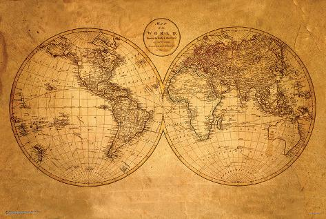 Old world map print allposters old world map gumiabroncs Images