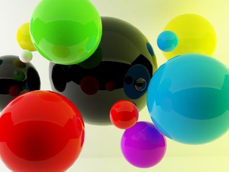 3D Balls Photographic Print