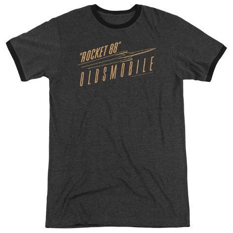 oldsmobile retro rocket 88 logo ringer tshirt at