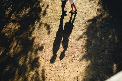 Beautiful Couple Walking in the Forest Photographic Print