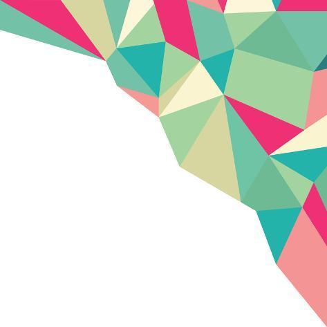 Geometric Polygonal Pattern Background Art Print