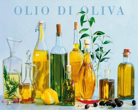 Olio di Oliva (Olive Oil Bottles) Art Poster Print Mini Poster
