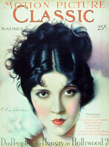 Olive Borden - Motion Picture Classic Magazine Cover 1920's Masterprint