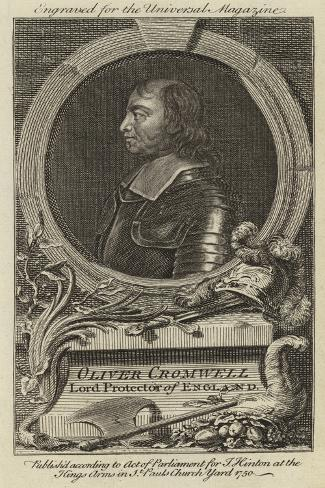 Oliver Cromwell, Lord Protector of England Stampa giclée