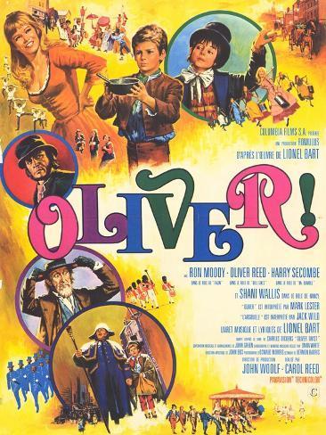 Oliver, French Movie Poster, 1969 Konstprint