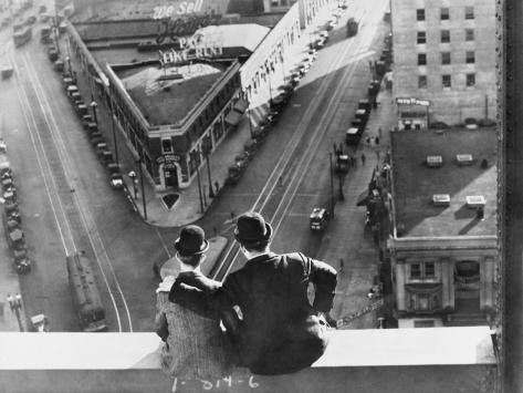 Oliver Hardy, Stan Laurel, Liberty, 1929 Photographic Print
