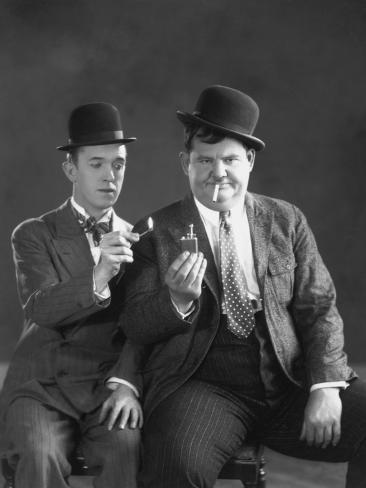 Oliver Hardy, Stan Laurel Photographic Print
