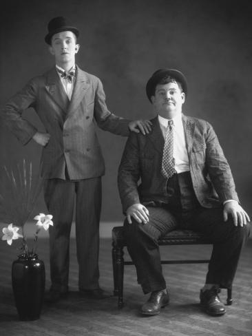 Oliver Hardy, Stan Laurel Photographic Print