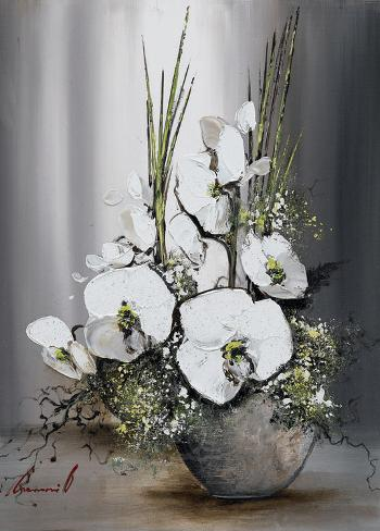 Univers d'Orchide?es Blanches I Art Print