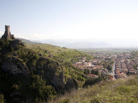Pescina's Tower, View of Pescina, Abruzzi, Italy, Europe Photographic Print