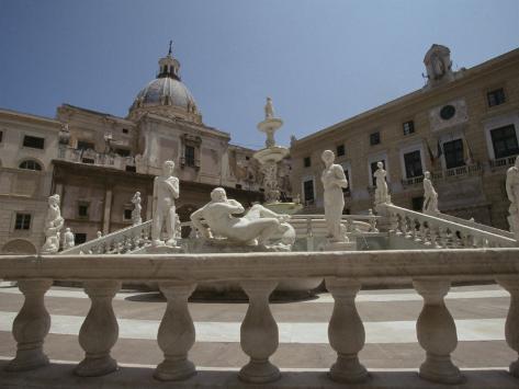 Pretoria Fountain, Palermo, Sicily, Italy Photographic Print