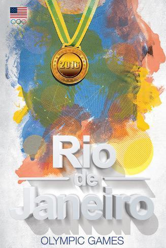 Olympics 2016 Rio De Janeiro Color Bursts Print