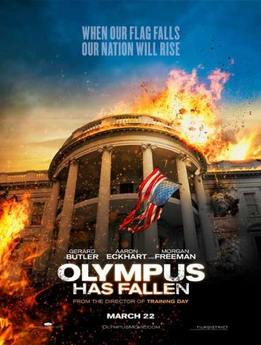 Olympus Has Fallen (Gerard Butler, Aaron Eckhart, Morgan Freeman) Movie Poster Masterprint