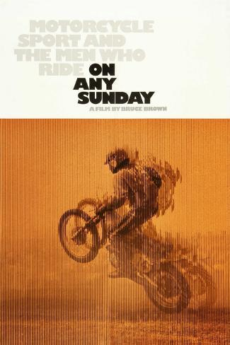 ON ANY SUNDAY, US poster, 1971. Art Print