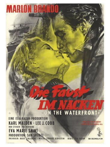 On the Waterfront, German Movie Poster, 1954 Art Print