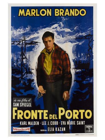 On the Waterfront, Italian Movie Poster, 1954 Art Print