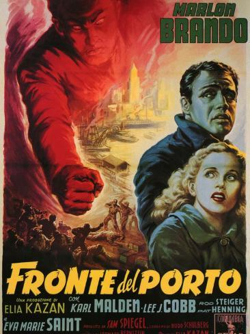 On the Waterfront, Italian Movie Poster, 1954 Art Print