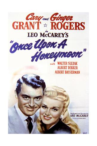 Once Upon a Honeymoon - Movie Poster Reproduction Premium Giclee Print