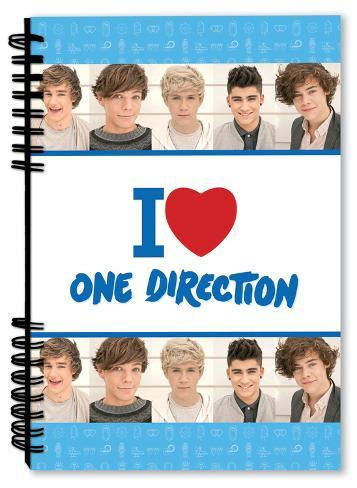 One Direction - I Heart One Direction Notebook Journal