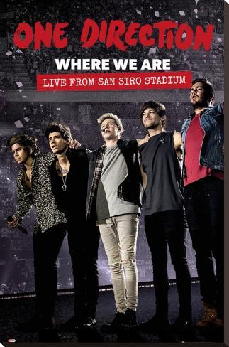 One Direction - Movie Stretched Canvas Print
