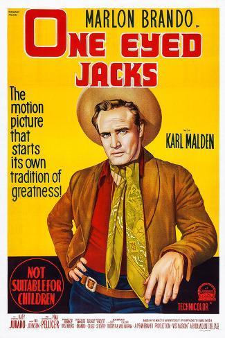 One-Eyed Jacks, Marlon Brando, 1961 Art Print