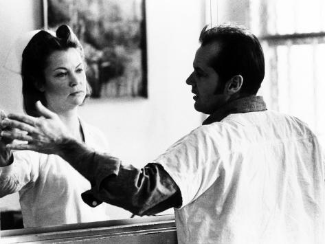 One Flew Over the Cuckoo's Nest, Louise Fletcher, Jack Nicholson, 1975 Photo