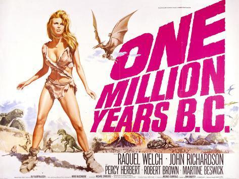 One Million Years B.C. Art Print