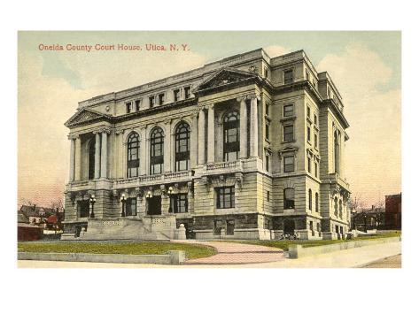 Oneida County Courthouse, Utica, New York Art Print