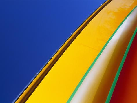 Brightly Colored Boat Exterior Photographic Print