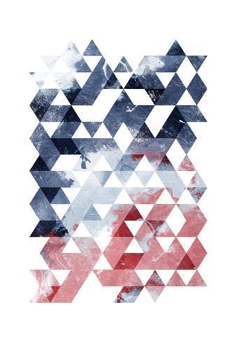 Americana Triangles Third Art Print